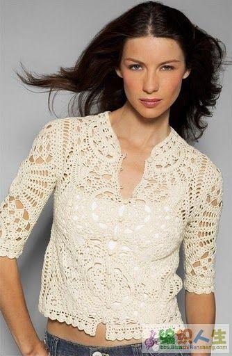 cardigan crochet. So very pretty!