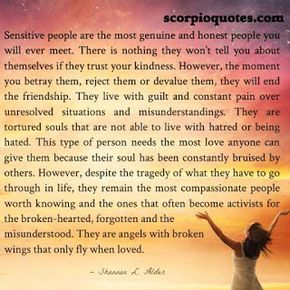 #scorpio #sensitivity #quote