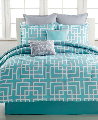 Serenade 8 Piece Comforter Sets teal aqua