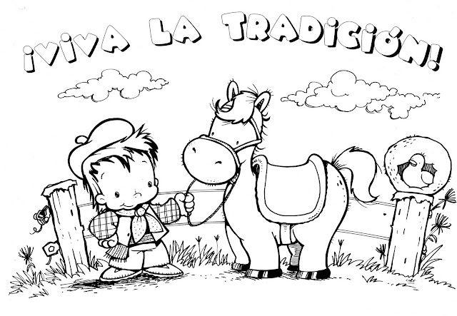 Resultado de imagen para dibujos para colorear dia de la tradicion