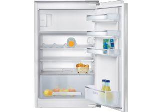 De Siemens KI18LV52 is een koelkast met vriezer en beschikt over een flessenrek, groentelade met gegolfde bodem en een extra groot diepvriesvak.