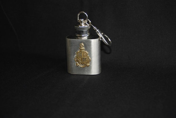 Weapon shield metal hip flask keychain , stainless steel flask 5 oz keyring - grooms gift , gifts for him , Liquor Flask , Fantasy accessory by Spritejewelry on Etsy