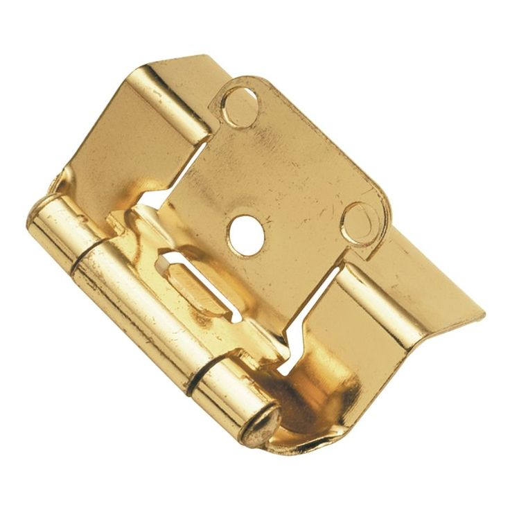 Hickory Hardware P5710F Package of 2 Full Wrap Self Closing Hinges Polished Brass Cabinet Hinges Overlay Hinges Wrap Hinges