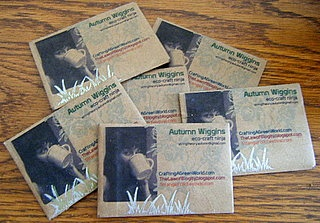 Printer-Friendly Grocery Shopping: Brown Paper Seed Packet Business Cards Tutorial
