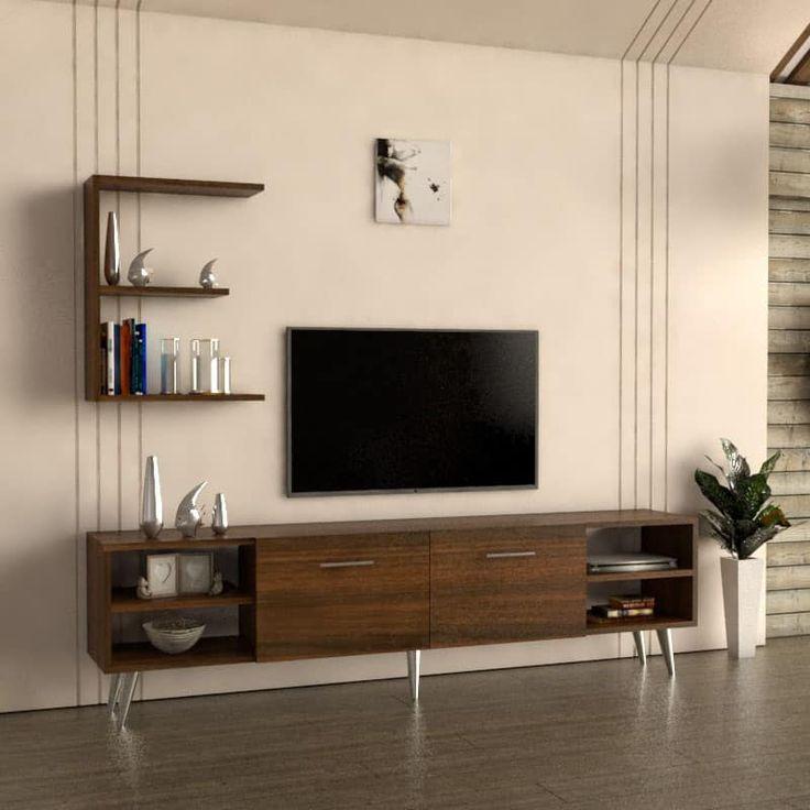 طاولة تلفاز بلازما لون بني 33 Flat Screen Electronic Products Tv