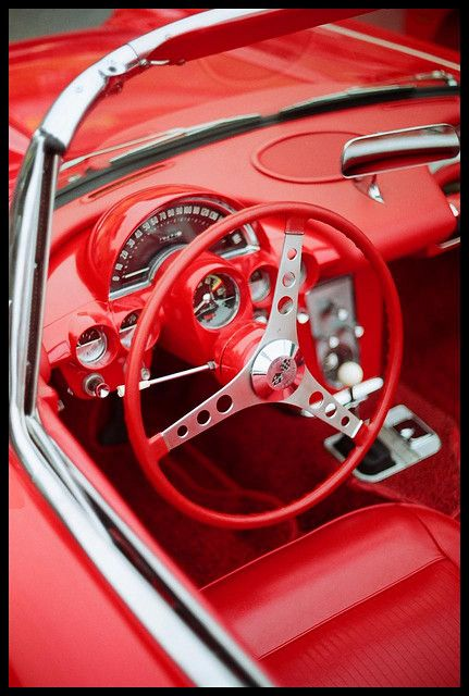 Little Red Corvette. QuirkyRides.com #coolcars.