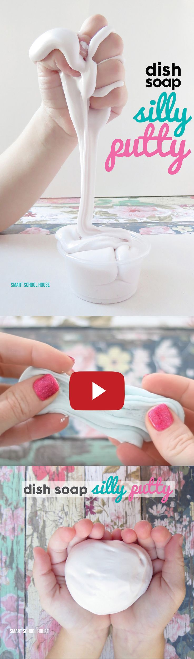 Dish Soap Silly Putty Video - Watch how to make this DIY silly putty using just 2 ingredients. So fun! Must try-