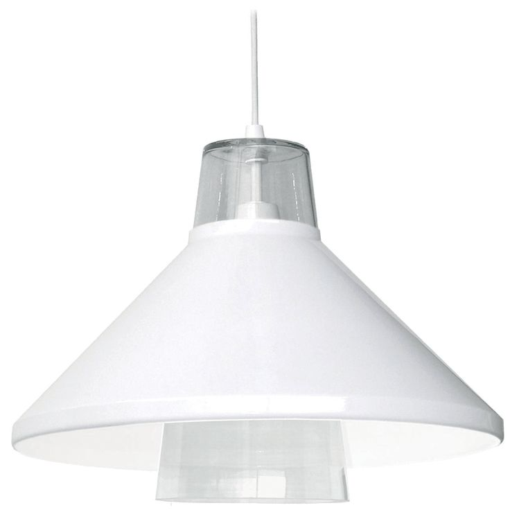 Två is a pendant lamp with metal shade amd glass base. Sold in black and white colors designed by Kasper Nyman.