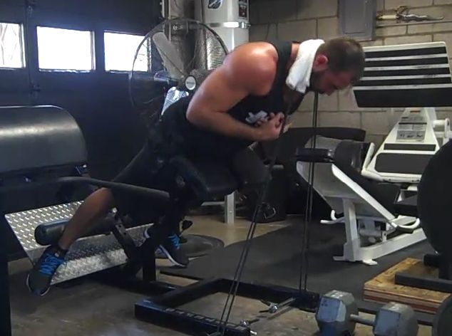 Here's an extensive video on back extensions. In this video, I discuss: Proper set up How to target the erectors (if that's the goal) Ways to increase glute activation (and feel it less in the back) How to modify if the back of the knees are hurting Cues Progressions (prisoner, single leg, dumbbell, band, chain, …