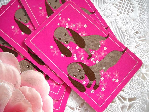 Charming Set of Vintage Playing Cards - Adorable Dachshund Puppy DogsDachshund Puppies, Dogs Doxie, Darling Doxie, Plays, Dachshund Clube, Charms Sets, Adorable Dachshund, Cards, Dachshund Vintage
