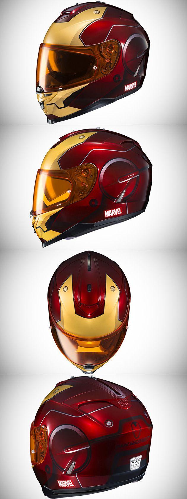 HJC IS 17 Marvel Series Iron Man Helmets