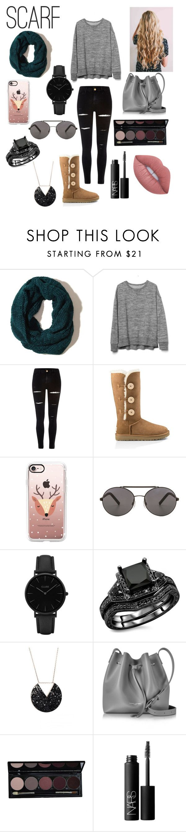 """❄️Scarves❄️"" by absfashion101 ❤ liked on Polyvore featuring Hollister Co., Gap, River Island, UGG Australia, Casetify, Seafolly, CLUSE, Lancaster, NARS Cosmetics and Lime Crime"