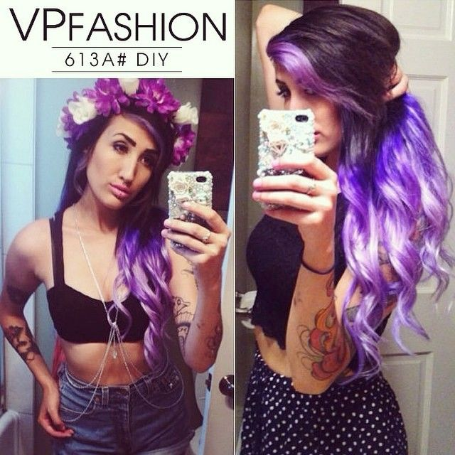 12 best vpfashion extensions images on pinterest colorful hair how to go from dark hair to pastel color in one set of hair extensions pmusecretfo Image collections