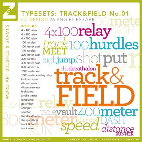track scrapbook pages | 26 track & field-themed stamps for your on your next scrapbook page or ...