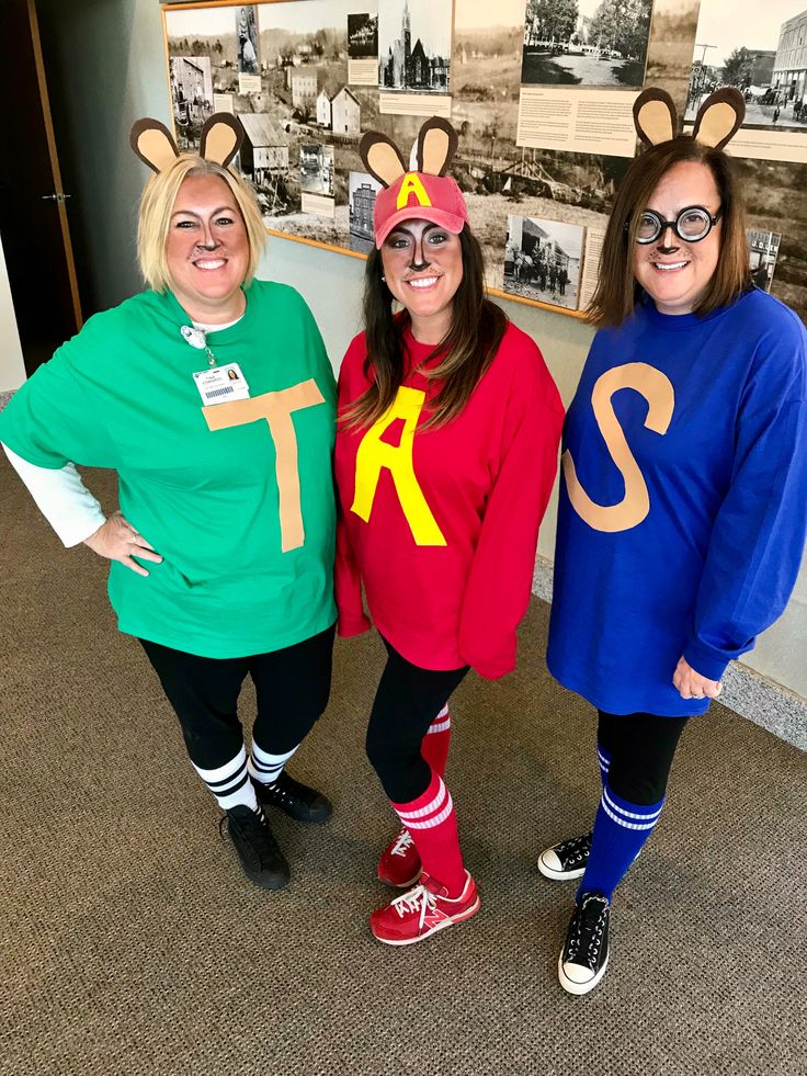 Alvin and the Chipmunks Costume for group of 3! Work