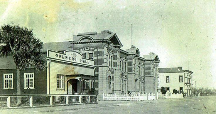 Soldiers Hall, Sewell St, Hokitika, ca 1940.   West Coast New Zealand History