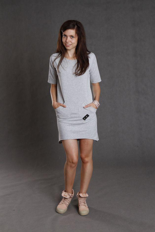 grey tab - kukadesign - Sukienki dresowe