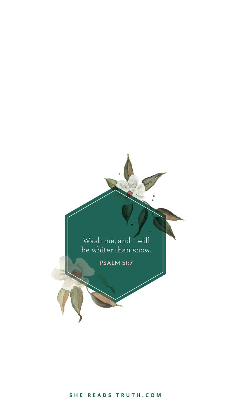 Psalm 51:7 Cleanse me O Lord