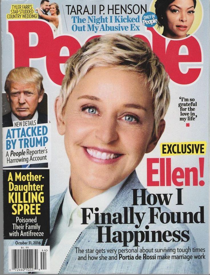 People Magazine October 31, 2016 - Ellen!, Taraji P. Henderson, Trump!