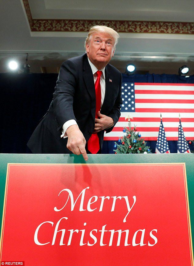 I'm proud to have a President who is not ashamed of the words, 'Merry Christmas'