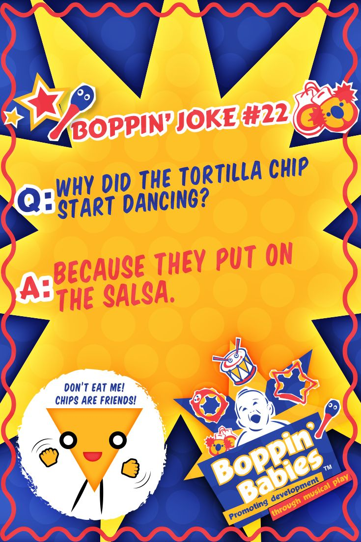 Q. Why did the tortilla chip start dancing? A. Because they put on the salsa. #FridayFunny