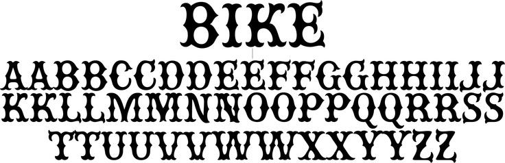 Bike A Classic Motorcycle Gang Font Cosas Para