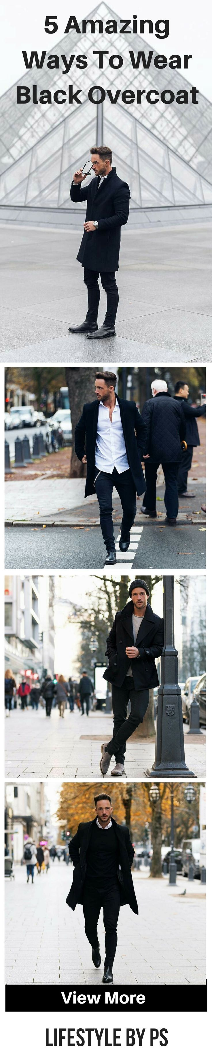How to wear black overcoat for men #mens #fashion