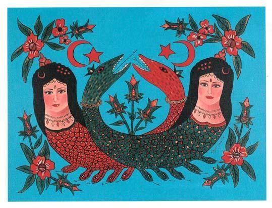 şahmeran-Painting by Ayşegül Yeşilnil