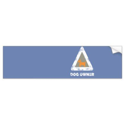 Dog Owner Triangle Sign Bumper Car Funky Sticker - craft supplies diy custom design supply special