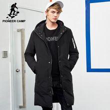 Campamento de pioneros nueva llegada chaqueta caliente del invierno de los hombres de la marca ropa de abrigo largo y grueso masculino de calidad superior con capucha parkas hombres AMF705299(China)