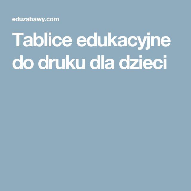 Tablice edukacyjne do druku dla dzieci