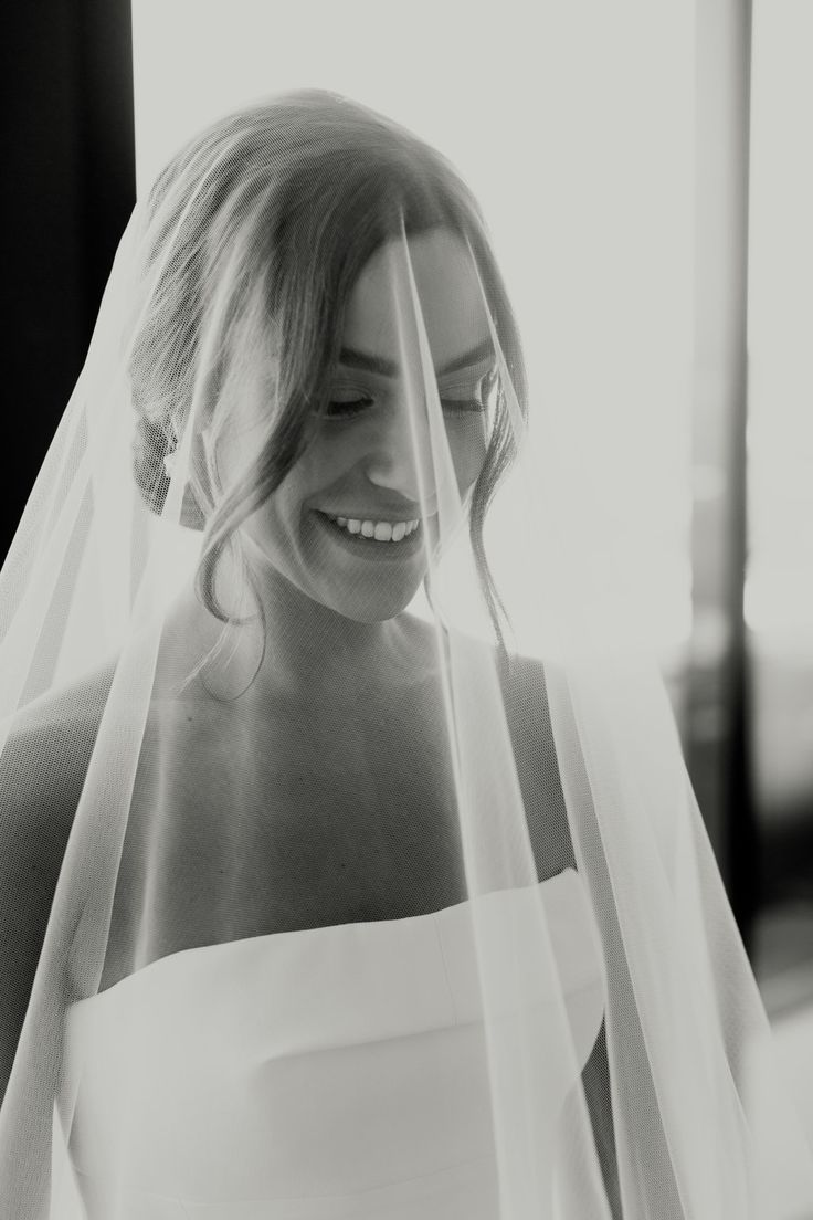 Clean cut lines coupled with the softness of a veil
