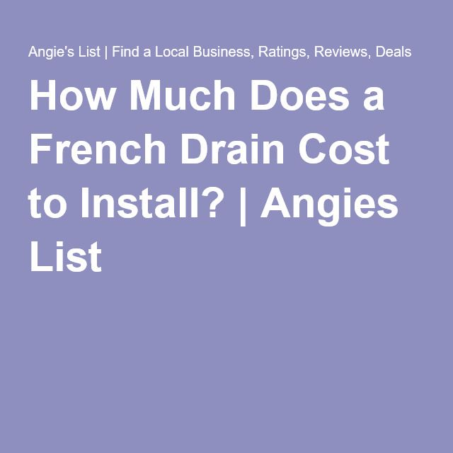 How Much Does A French Drain Cost?