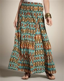 Pretty skirt with lots of flow, lovely ethnic design and looks modest... hijab!
