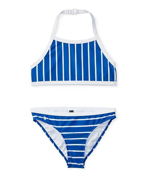 Striped Two-Piece Swimsuit - Girls 7-16 Swimwear - RalphLauren.com