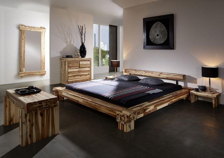 SAM® Massives Holzbett Akazie 180 x 200 cm Casanova Auf Lager!