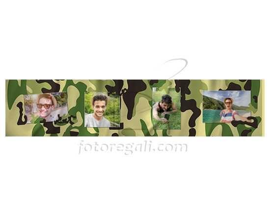 La tua sciarpa in pile dallo stile militare
