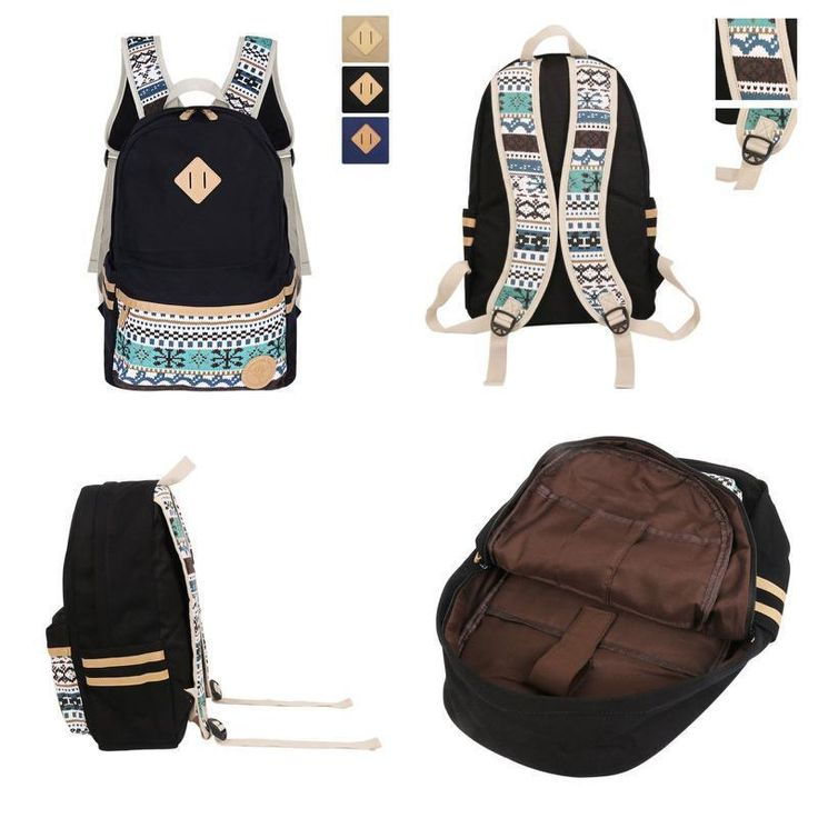 School Canvas Backpack Double Shoulder Rucksuck Young Stylish Lightweight #Backpack