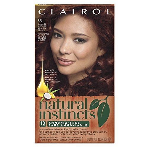 Clairol Natural Instincts 5R, former 22 Cinnaberry Medium Auburn Brown 1 Kit (Pack of 3)