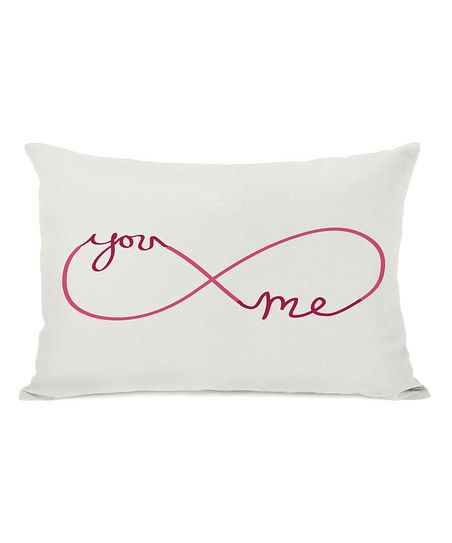 Red Pink Infinite 'You Me' Throw Pillow