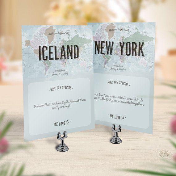 Matrimonio a tema viaggio, segnaposto viaggio, numero tavolo vintage, nome tabella matrimonio personalizzato, numero tabella mappa viaggio, mappa avventura cartolina
