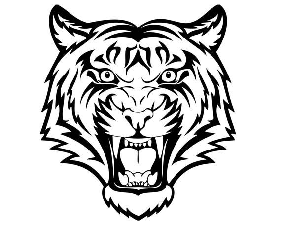 Angry Tiger Lion Panther Bear Vector Jpeg Svg Eps Png Animal Etsy In 2021 Tiger Head Tattoo Tribal Tiger Tattoo Tribal Tiger