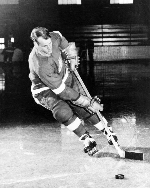 A younger photo of Mr. Hockey: Gordie Howe