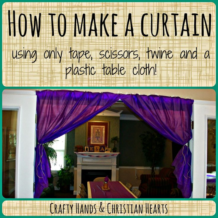 Make A Curtain With A Dollar Tree Plastic Table Cloth
