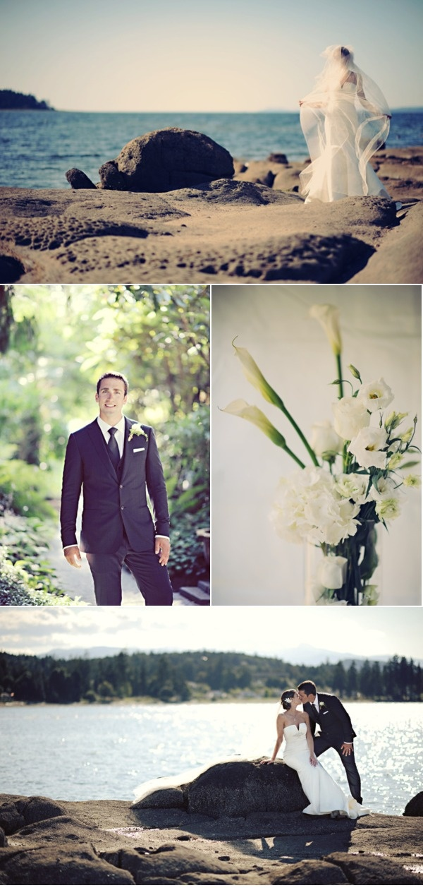 Breathtaking oceanside wedding pics - Pacific Shores wedding in Nanoose Bay near Parksville on Vancouver Island