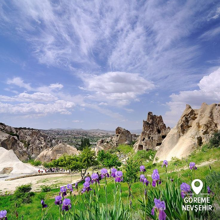 The first spring flowers as they peep out over the Cappadocian landscape just brings another level of magic to this land of fairy tales...