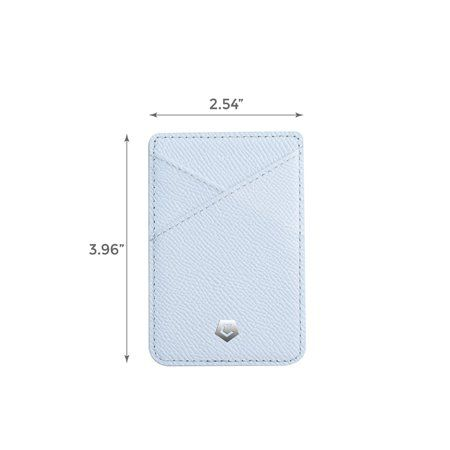Stick-On Genuine Leather Card Holder Adhesive ID Business Credit Card Cash Walle…