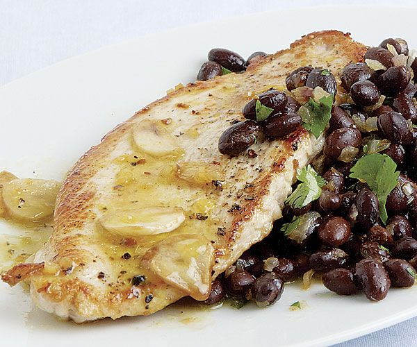 Turkey Cutlets and Black Beans with Tangerine-Habanero Mojo Sauce | R ...