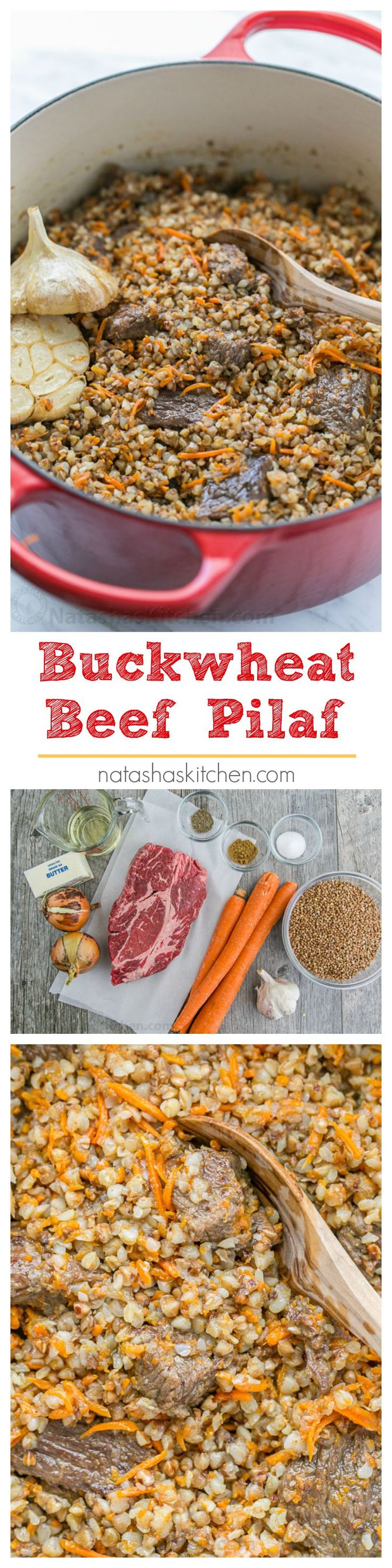 Buckwheat is a total superfood. I love this buckwheat recipe the most! Buckwheat Pilaf with fall-apart tender beef - simple and excellent dish. You'll be running back for refills! | natashaskitchen.com