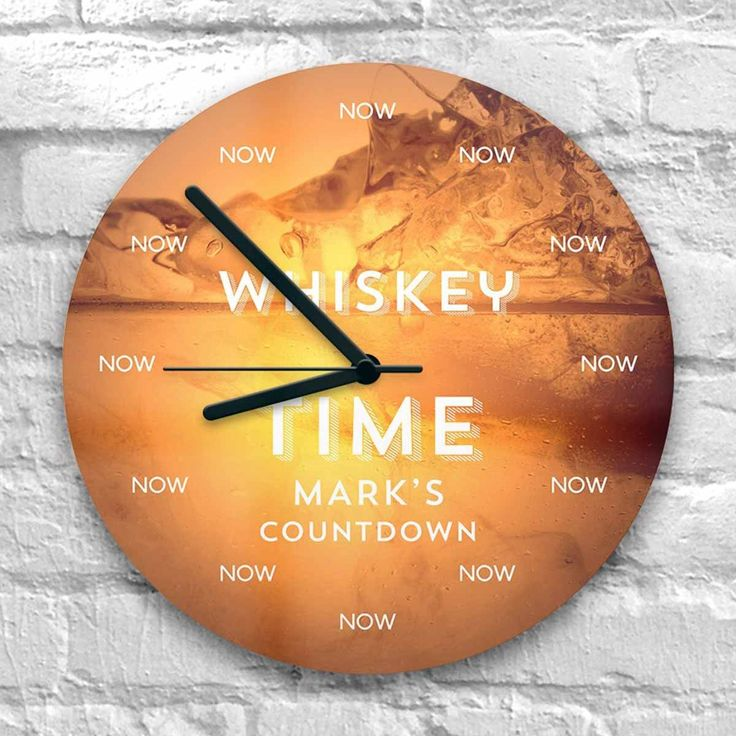 Personalised Whisky Time - Is it Whisky Time yet? Now you can count down the hours until it's time to relax with a glass of your favourite fine malt with the Personalised Whisky Time Clock - a gift exclusive to The Present Finder!
